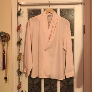 Yves St Clair Vintage Pink Blouse Size 16